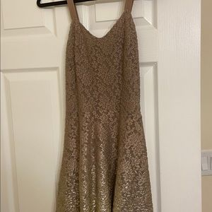 Free People Dresses - Free People Beige and Gold Ombré Dress Size M